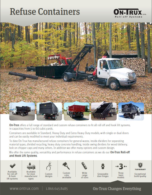 Roll-Off System Brochures: Dump Boxes, Containers, Storage